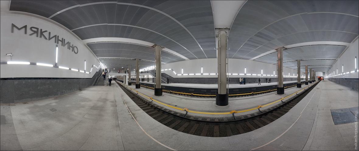 """1) Станция """"Мякинино"""" уникальна - во-первых это первая станция, которая расположена на территории Московской области, а во-вторых она построена на деньги частного инвестора: торгового центра """"Крокус-Сити""""."""