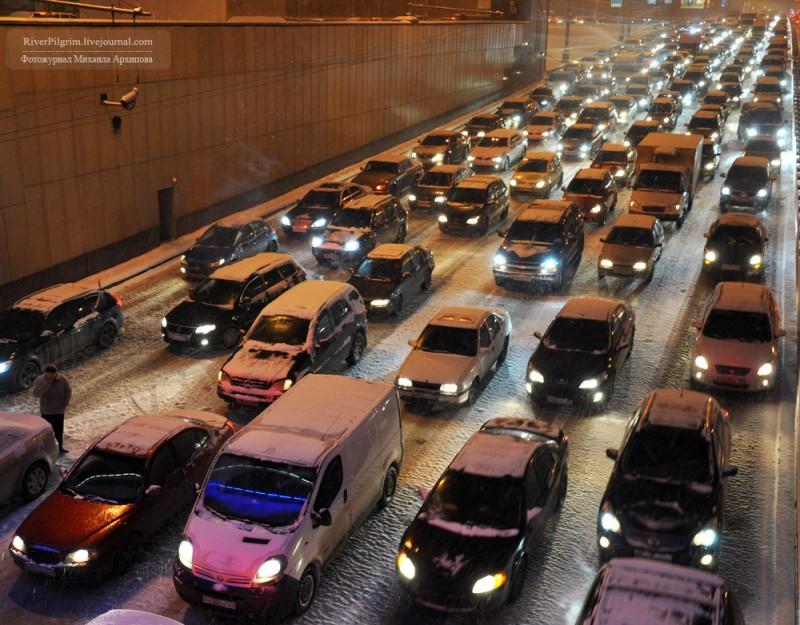 Необычный снегопад в Москве