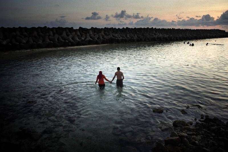 Мальдивы и океан