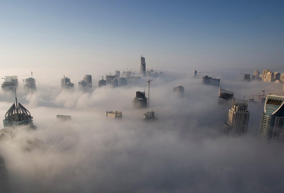 картинка тумана в городе пары