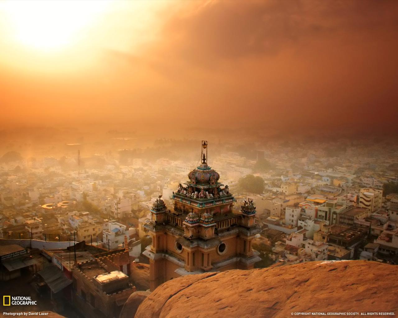 5) Вид на город Триши, Индия.