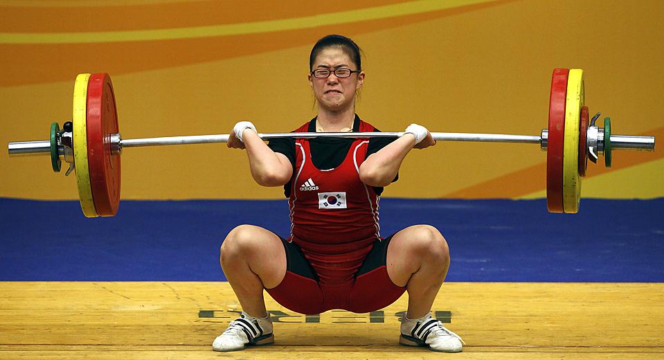 9) Спортсменка из Южной Кореи Ким Сох-ва во время Восточно-Азиатских игр в Гонконге. (Tyrone Siu/Reuters)