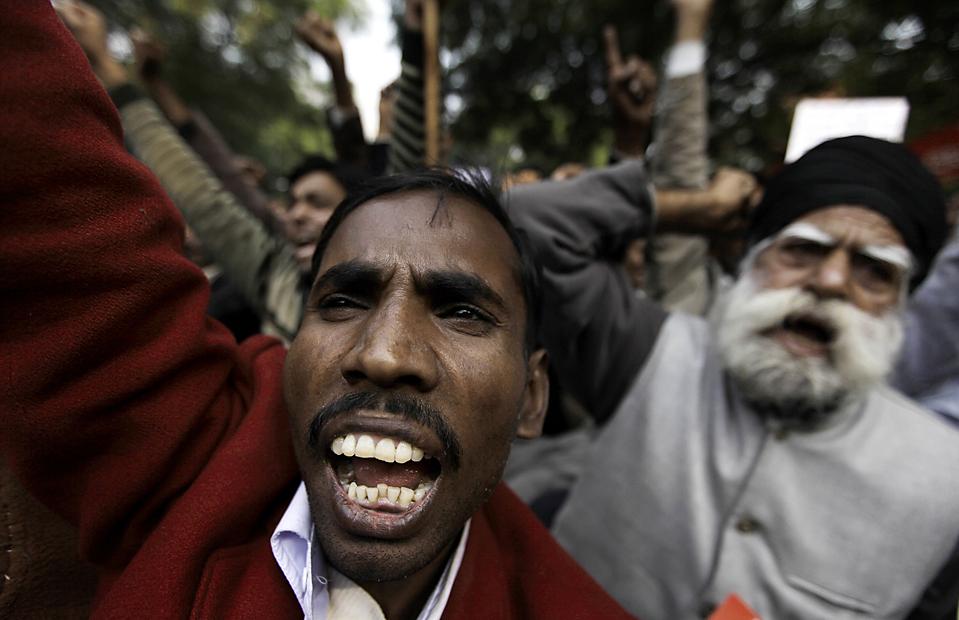 APTOPIX India Price Rise Protest