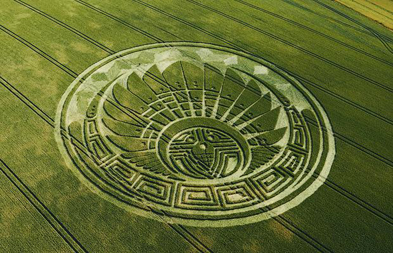 17) Майя-тематические образования кругов на полях вСилбери Хилл, увядание которых предсказывается на апокалипсис 21 декабря 2012 года. (M & Y PORTSMOUTH)