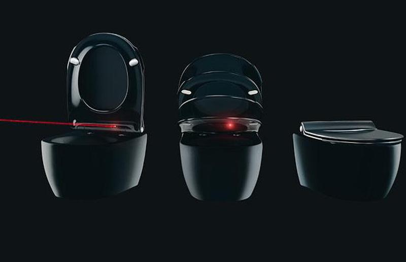 3) Robo-унитаз, который чувствует движение тела. С помощью инфракрасного луча отлеживается положение тела и в итоге поднимается, либо опускается сиденье. Сиденье закрывается автоматически после того как вы вышли из зоны. (REX FEATURES)