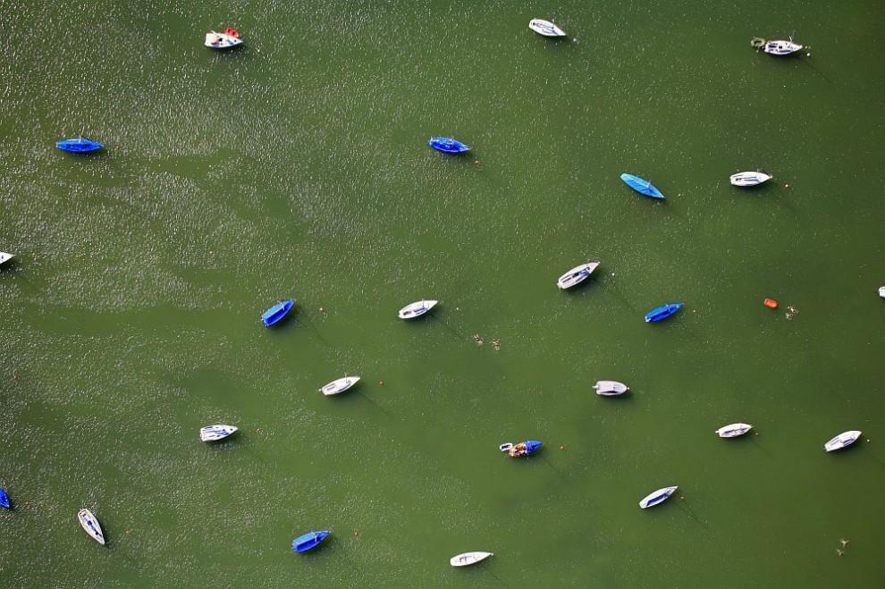 5. Вид с воздуха на место для стоянки судов у города Хершинг-ам-Аммерзее.