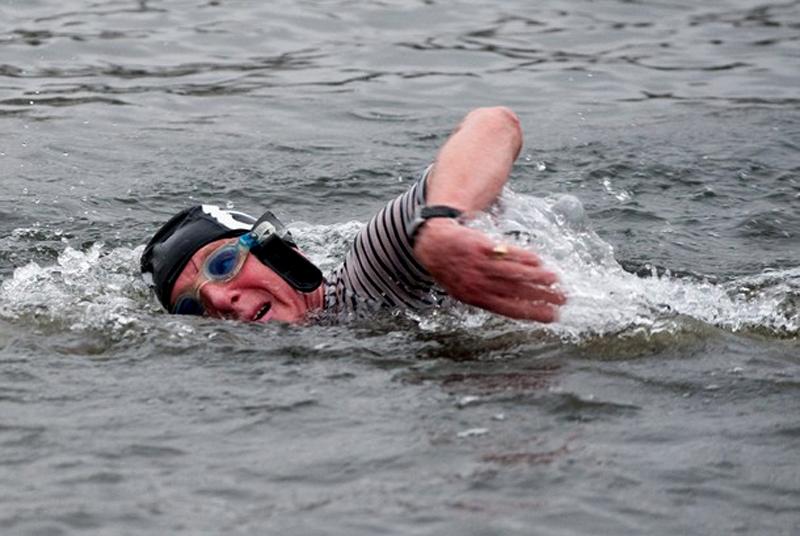 10) Заплыв одного из членов клуба. (Marco Secchi/Getty Images)