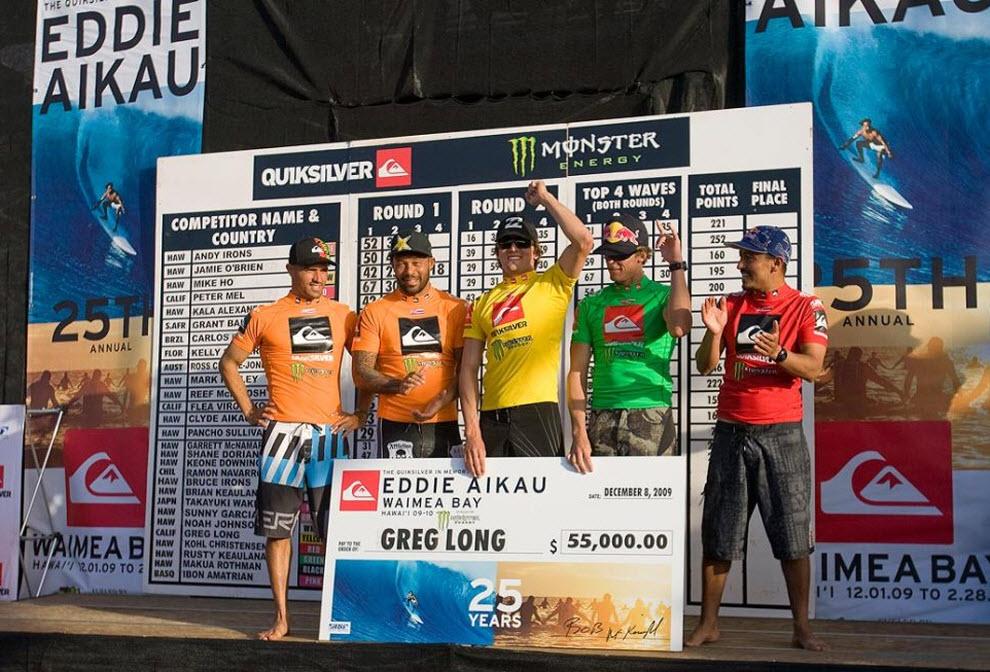 11)  Победителем турнира этого года стал 24-летний Грег Лонг из Калифорнии, сумевший обогнать самого Келли Слейтера, набрав 323 очка против 313 у Слейтера. Победитель получил приз - чек на 55 тысяч долларов.