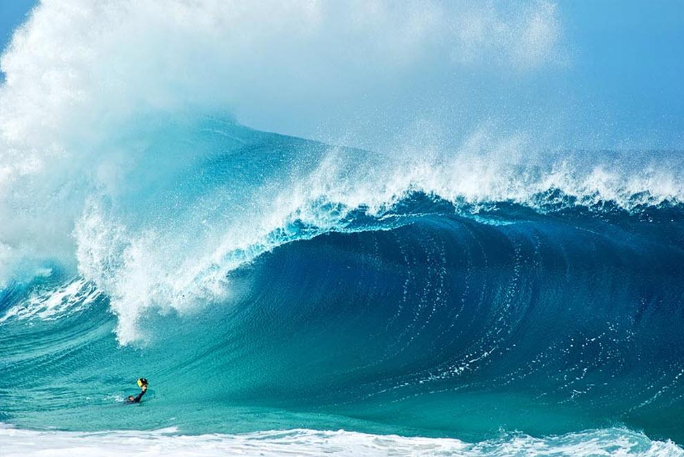 7. Кларк за работой. Будучи талантливым серфером, Кларк фотографирует изумительную красоту волн Оаху и доносит ее миру. «Я наслаждаюсь мощью и красотой этих водяных бомб, проносящихся мимо, - говорит он. – Теперь я могу запечатлеть подобные моменты, при этом не попав под волну. Ну, в основном». 16 ноября Кларк издал свою первую книгу «На гребне волны от Кларка Литтла». На 182 страницах книги Кларк поместил коллекцию своих самых популярных фото, а также новые фотографии, в каждой из которых он запечатлел мощь и красоту волн Оаху у Север Шор изнутри. (Clark Little)