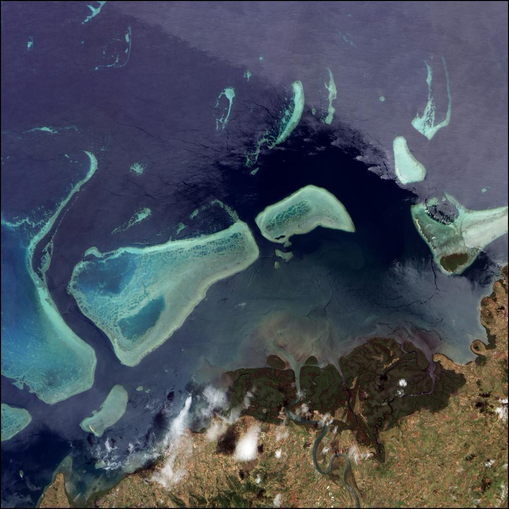 1) Фиджи, кораллы и сочные леса.
