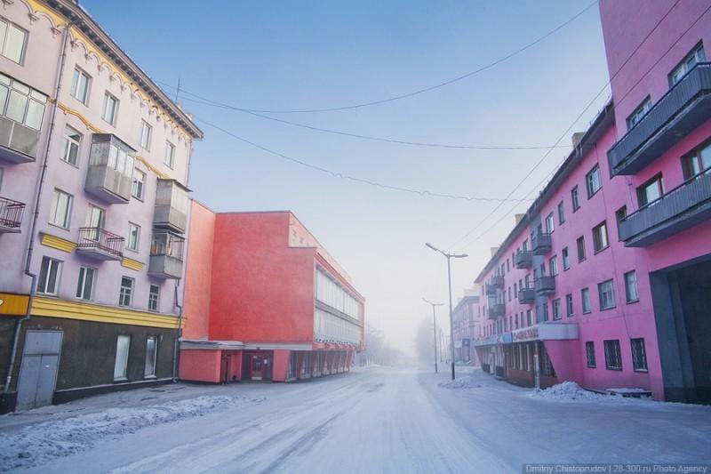 Промерзший Прокопьевск на Кузбассе