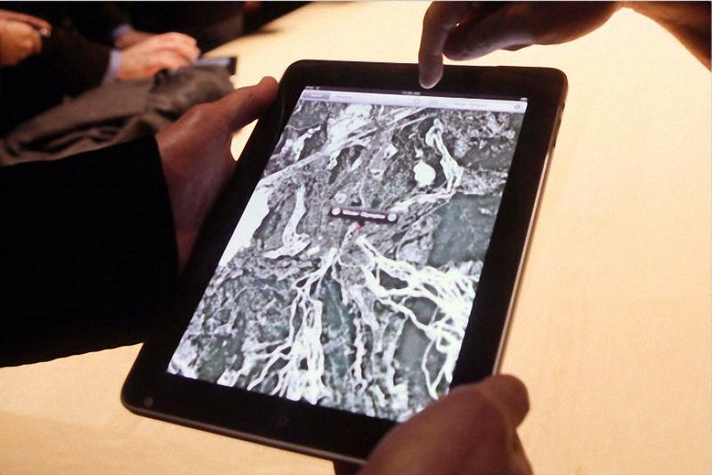 3. Карты Google на iPad. (Kimberly White/Reuters)