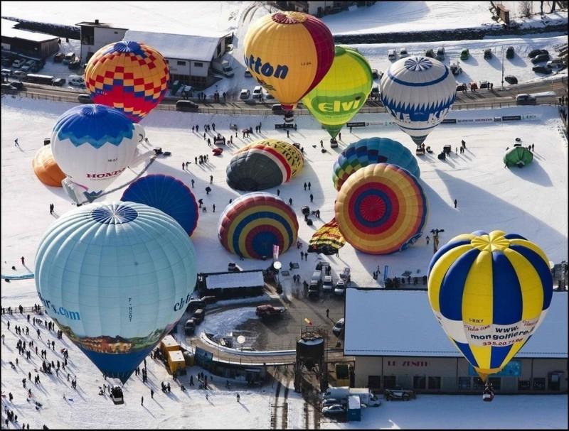 Неделя воздушных шаров в Шато д'Ё
