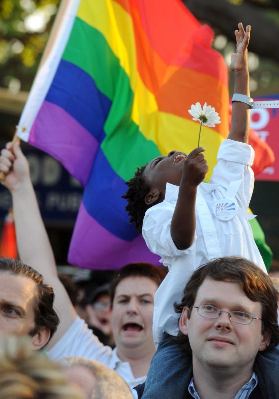 7-а. Дункан Айланд и его супруг Джон – одна из однополых пар, чей брак суд Калифорнии поддержал. Верховный суд Калифорнии поддержал запрет штата на однополые браки, но заявило, что около 18 000 однополых браков, заключенных до запрета, остаются в силе. (UPI Photo/Jim Ruymen)