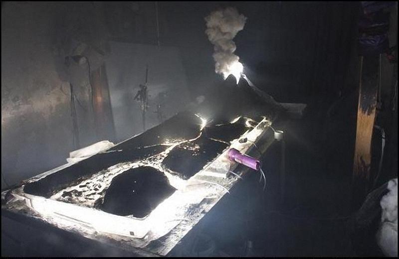 7) Инсталляция вулкана.