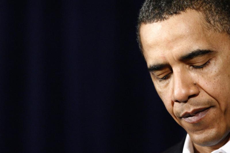 10. Президент США Барак Обама говорит о повышении уровня безопасности в аэропортах после попытки совершить теракт на борту «Northwest Flight 253» на военной базе Гавайев 28 декабря 2009 года в Канеохе Бэй. «UPI/Kent Nishimura/Pool»