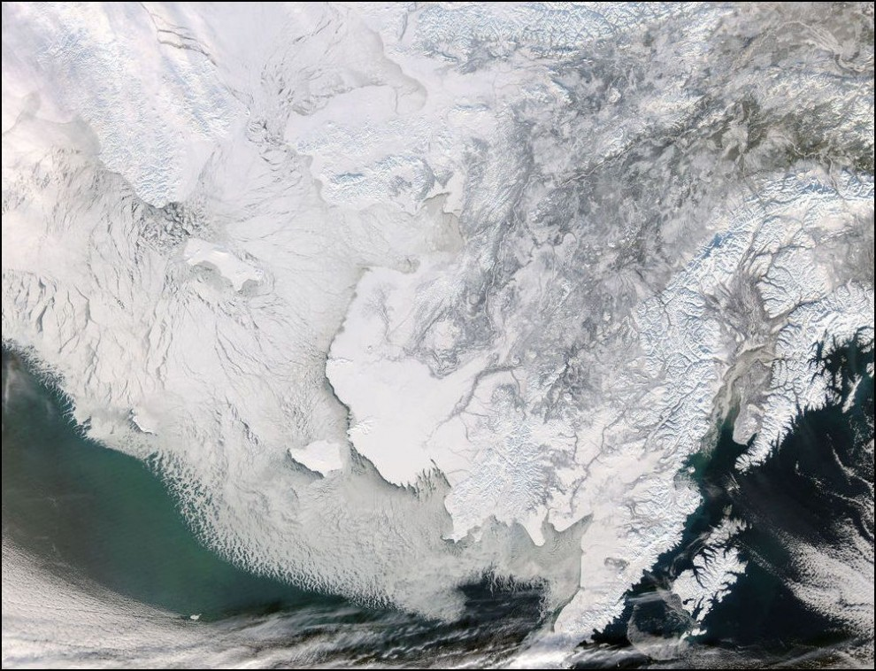 10)© NASA // Берингов пролив.
