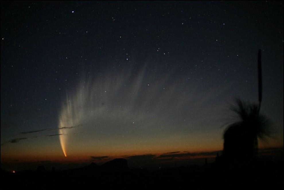 13) © Robert H. McNaught // Хвост кометы МакНот, самой яркой за последние 40 лет.