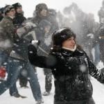 Снежный флешмоб в Берлине