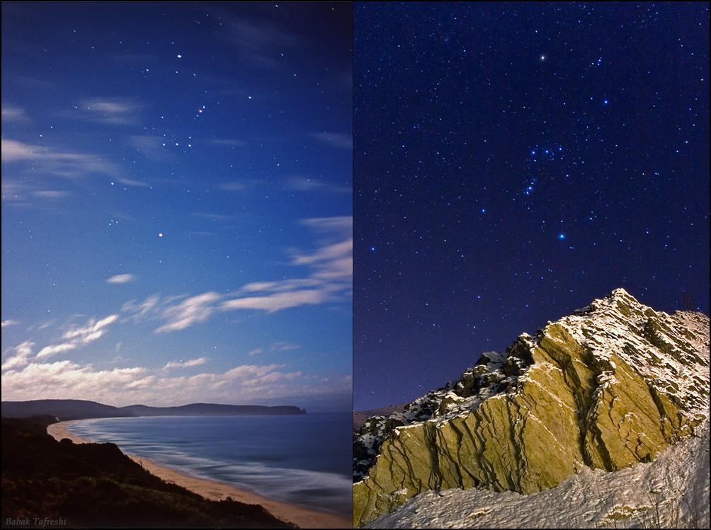 15) Одно и тоже созвездие видимое из разных полушарий Земли.