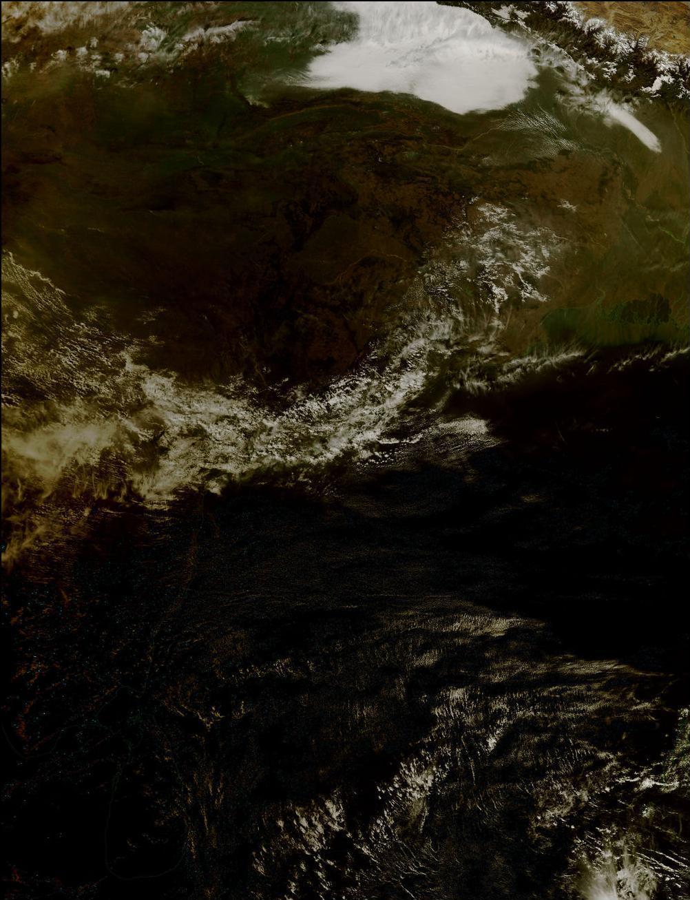 17) Движение тени во время затмения.