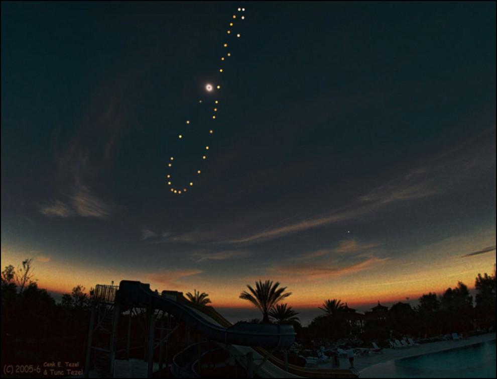 31) © Cenk E. Tezel и Tunç Tezel // Аналемма вместе с солнечным затмением.