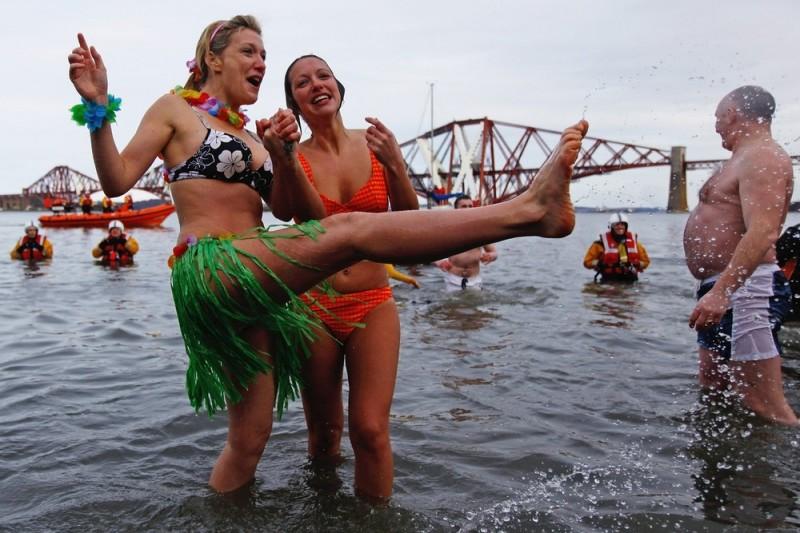Новогоднее моржевание в Эдинбурге