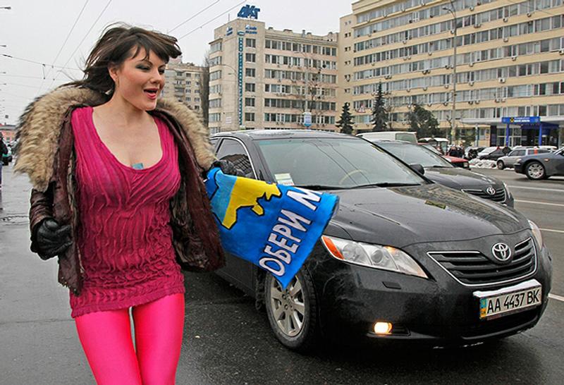 9) С таким обращением вытупила лидер движения FEMEN Анна Гуцол. (AP)