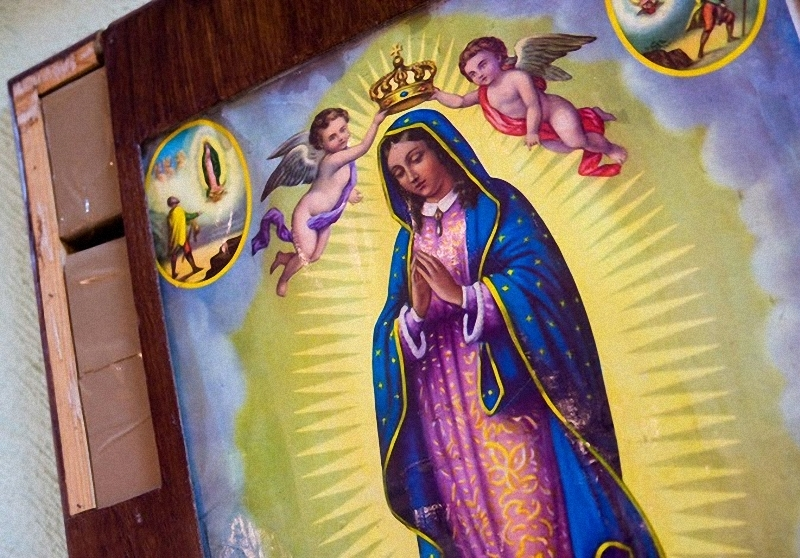 9. Наркотики спрятаны в рамке картины Девы Марии Гваделупской. Девять из этих икон были найдены во время осмотра пассажирского автобуса в Соноре, Мексика. В итоге было конфисковано 49 кг марихуаны. (Sarah L. Voisin-Washington Post)