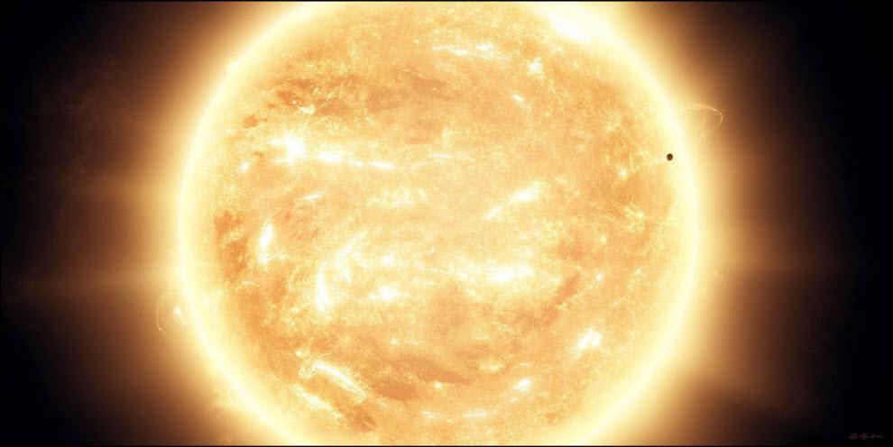 01) Меркурий – Прохождение Солнца