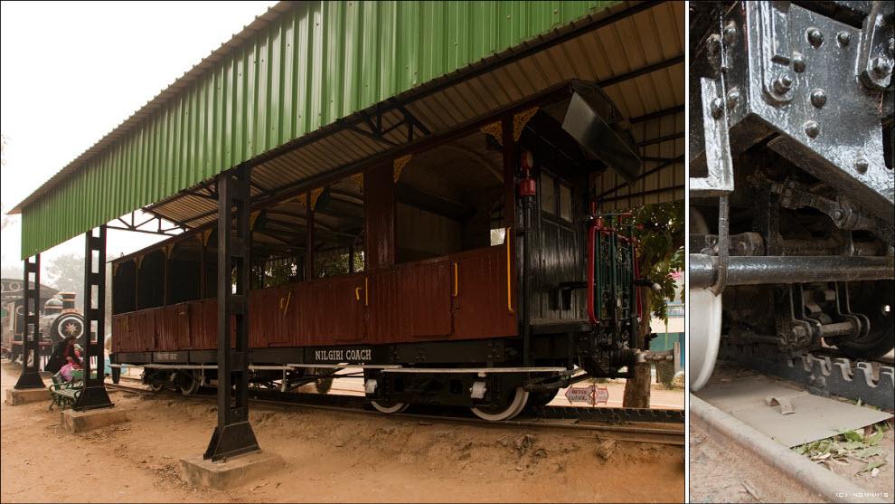 02) Паровоз со специальным белоснежным вагоном Прица Уэльского (он же позже Король Эдуард 7й), построенный в 1875 году для его визита в Индию в 1876...
