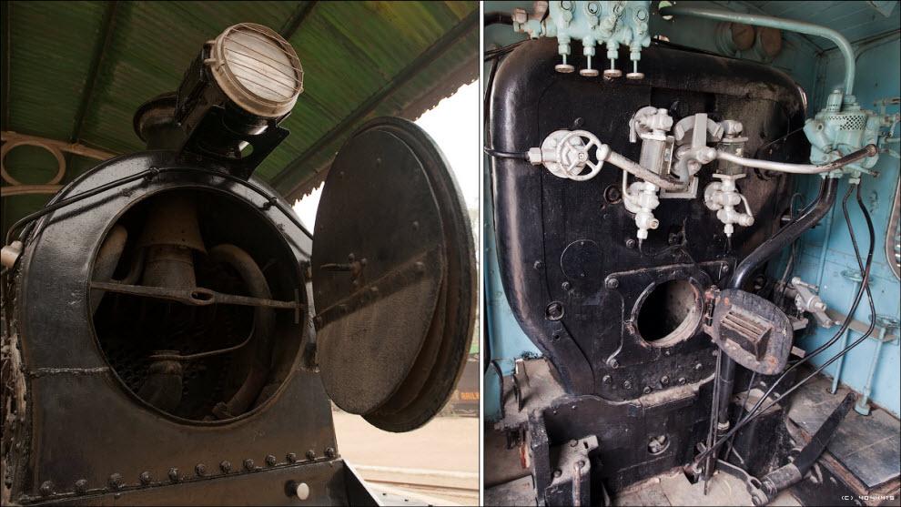 06) Небольшой маневровый электровоз и монорельсовый паровоз (!) образца 1907 года (!!!)...
