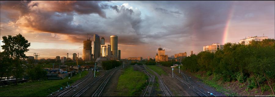 06) кусок радуги в панораме.