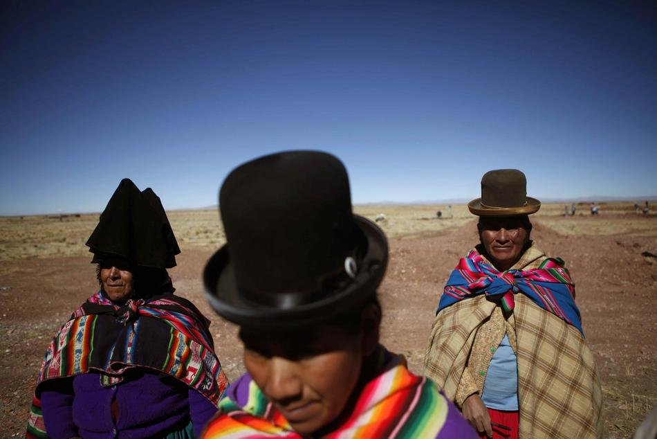 7. Женщины – представители племени аймара. (AP Photo/Dado Galdieri)