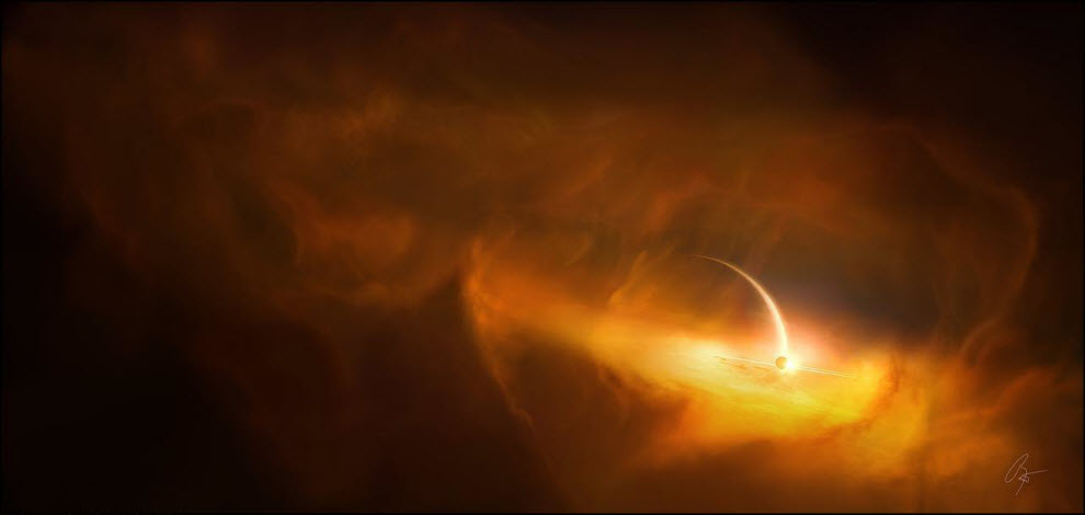08) Сатурн  - Под облаками Титана