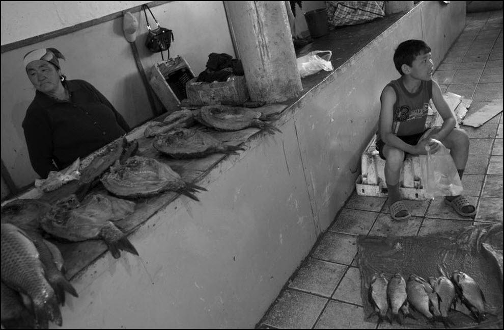 11) Рыбный рынок в Аральске.