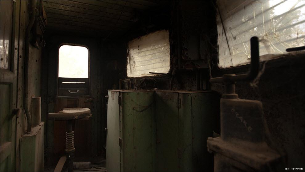 17) Вагонетка с деревянной кабиной на базеб ензинового автомобильного 6-цилиндрового двигателя Dodge...
