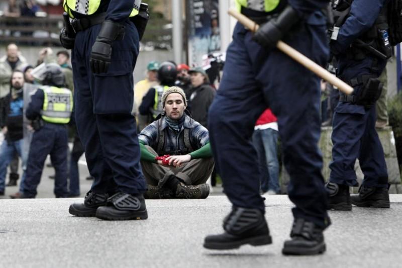 Протесты в Ванкувере