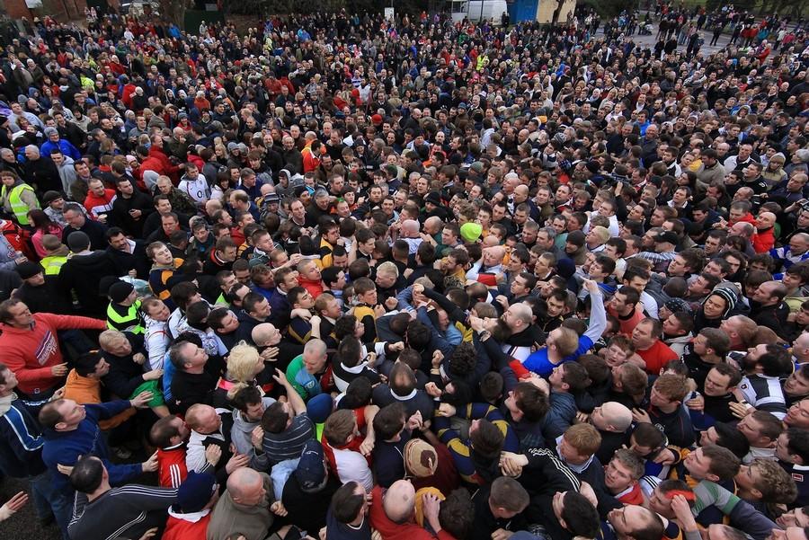 360 Дербиширский футбол без правил
