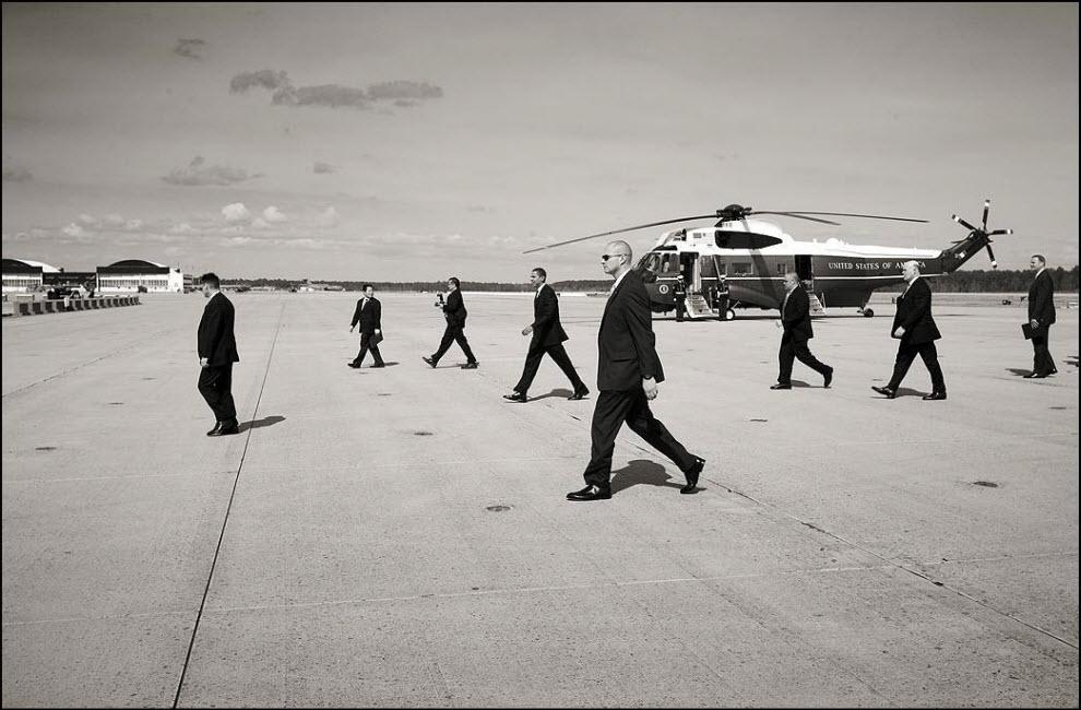 14) Визит Барака Обамы в Черри Поинт на базу морских пехотинцев.