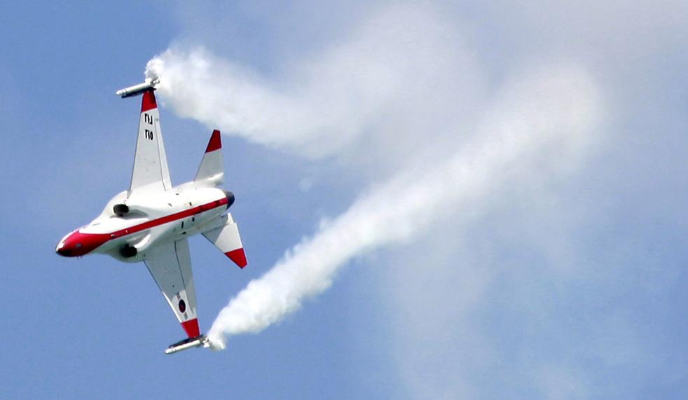 7. Самолет компании «Korean Aerospace Industries» на авиасалоне в Сингапуре 2 февраля. (AFP / Getty Images / Roslan Rahman)