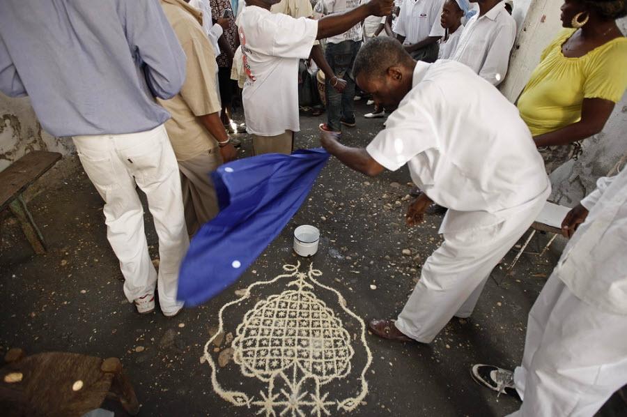 96 orang Kristen terhadap vuduistov di Haiti