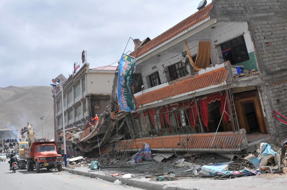 China girl earthquake strip