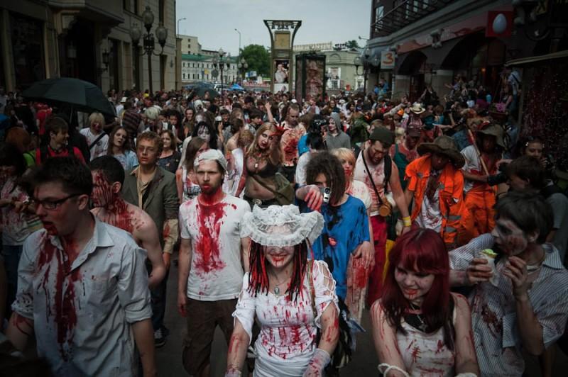 Зомби парад в Москве