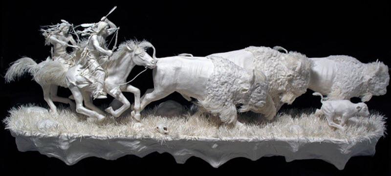 3142 Бумажные скульптуры