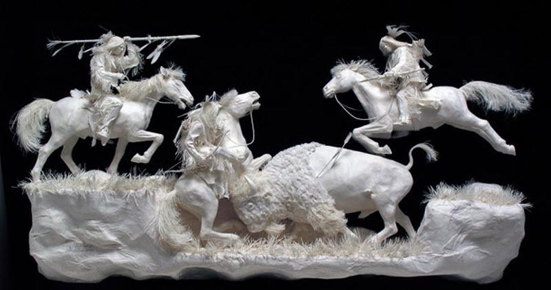 596 Бумажные скульптуры