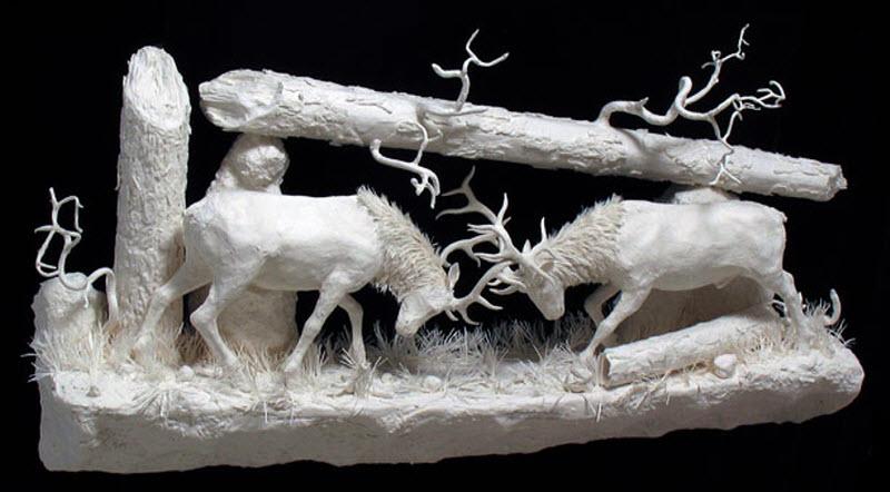 883 Бумажные скульптуры