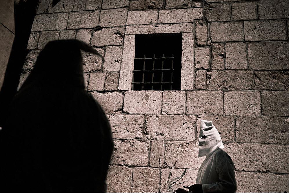 flagellanti03 upacara dera abad pertengahan di Italia