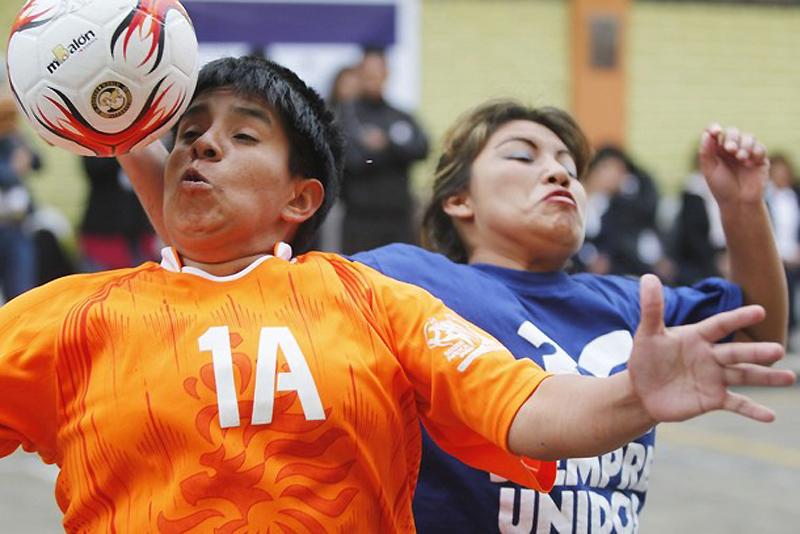 Футбол в женской тюрьме Лимы