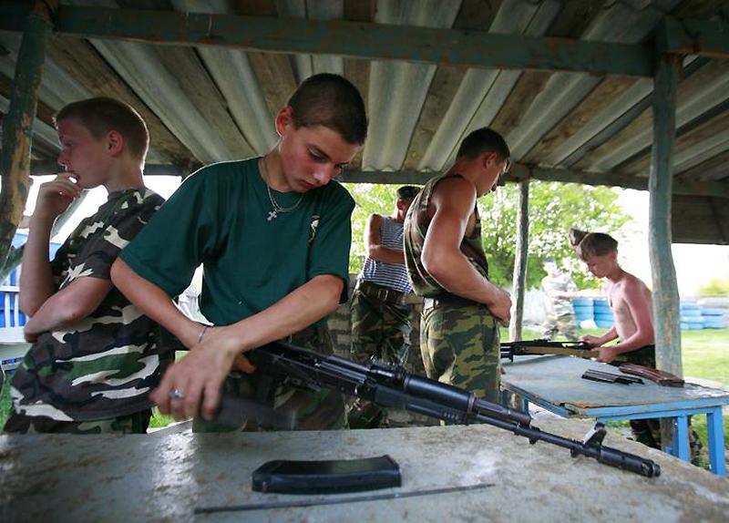 Военный лагерь для мальчиков под Ставрополем
